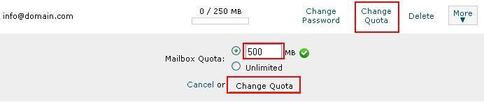 تغییر فضای Email در کنترل پنل cpanel (سی پنل)