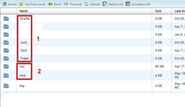 حذف ایمیل از طریق File Manager در کنترل پنل cPanel (سی پنل)